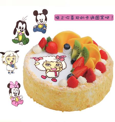 生日卡通蛋糕
